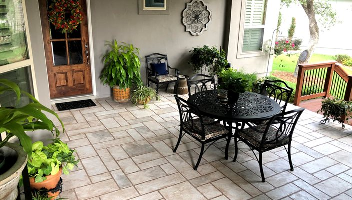 Patio Sunstone In Fredericksburg, Tx Test SUNDEK San Antonio