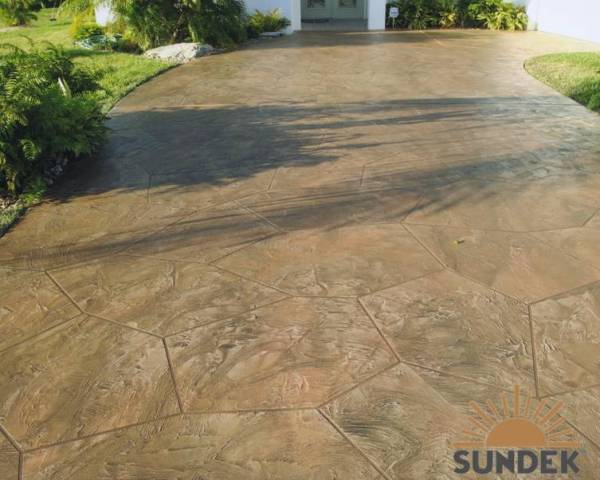 Tuscan Custom Stamped Overlay In Flagstone With