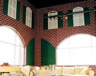 Classic-texture-running-bond-brick-on-interior-commercial-wall