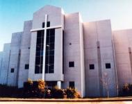 SunSplash-on-church-exterior-walls