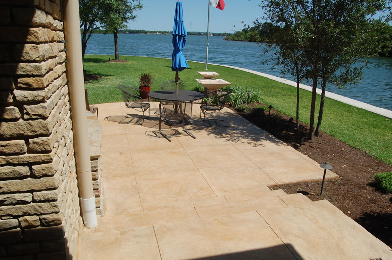 Acid Stain Concrete Patio