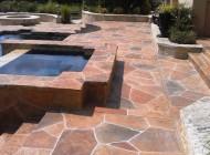 Concrete repair with decorative coating