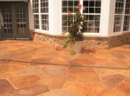 Decorative Concrete Finish Around an Entryway