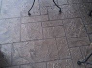 Decorative concrete with Tuscan Finish