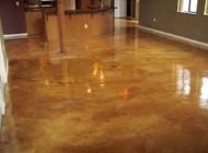 Interior stained concrete flooring