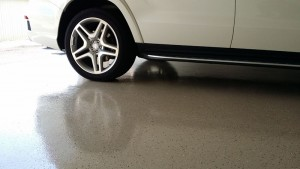 Garage Floor with Polyaspartic Coating