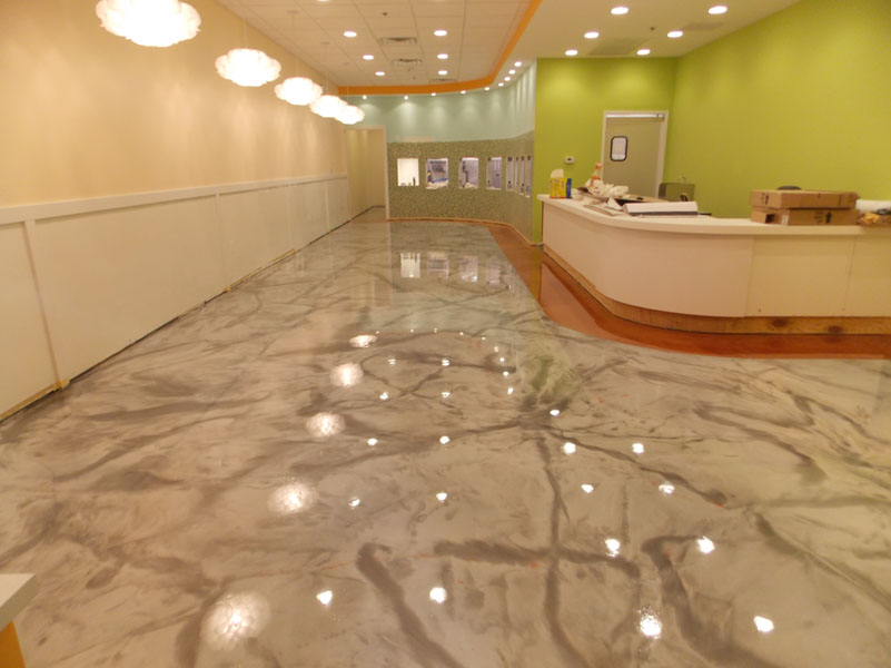 A Unique Concrete Floor with Metallic Epoxy