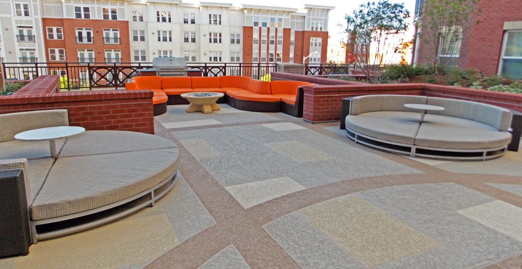 Wonderful Colored Concrete Common Area