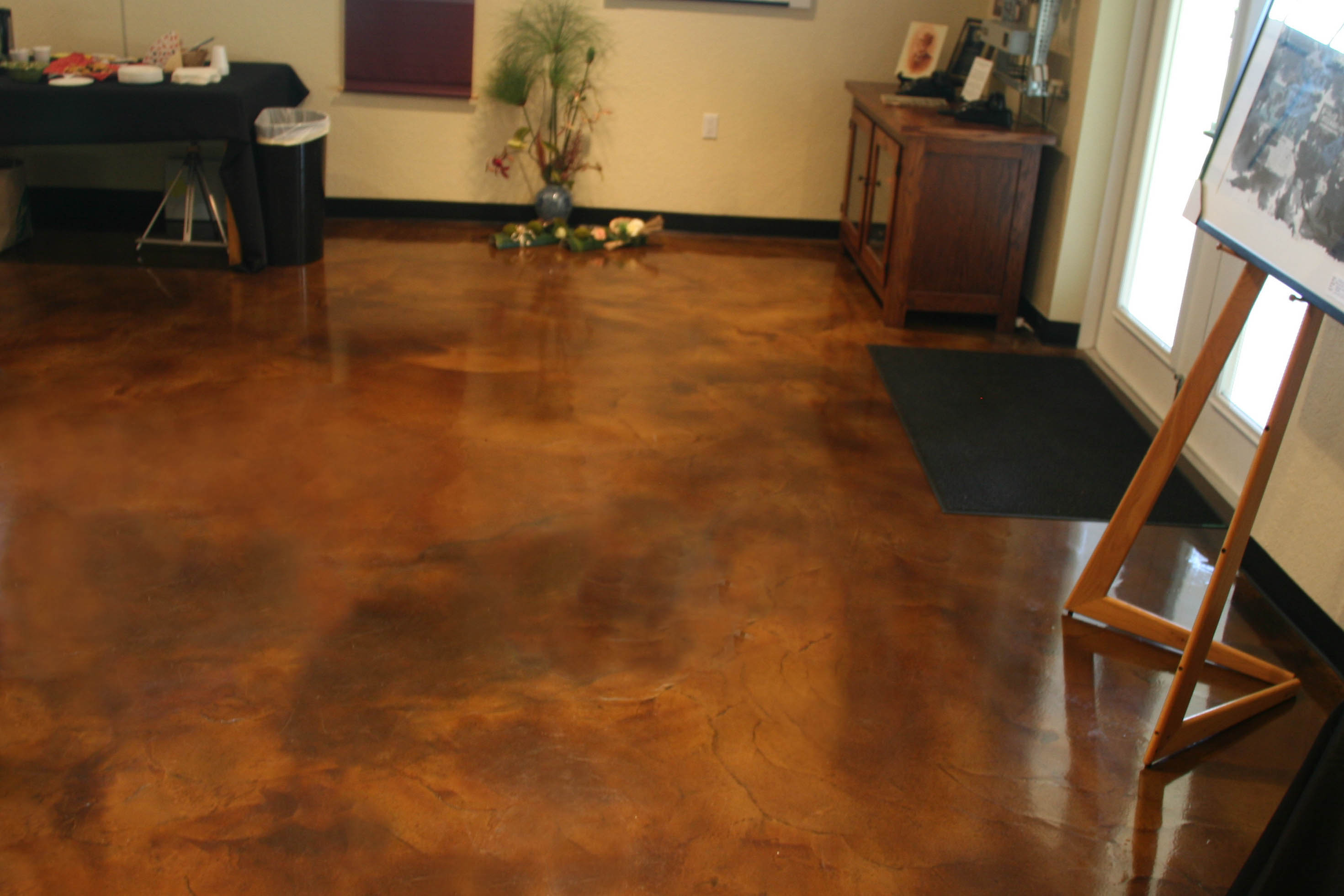on floors how warping middle to interior stain easy concrete steps