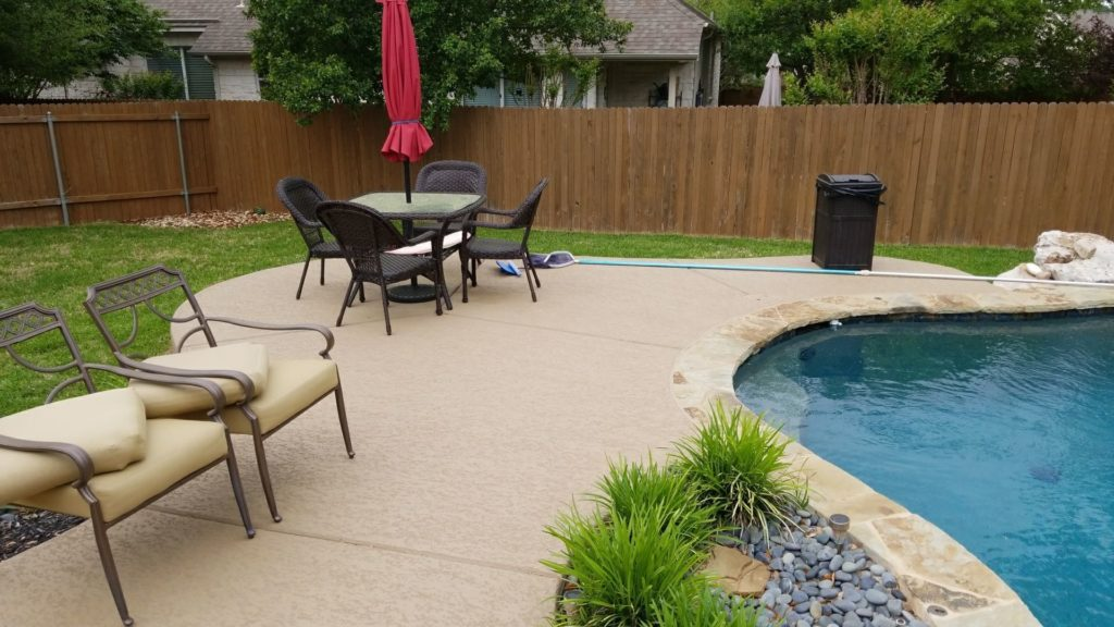 Residential Pool deck with Classic Texture Coating