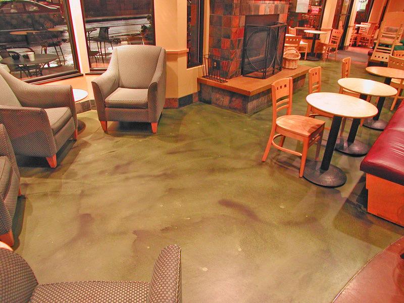 Sundek Decorative Concrete Coffee Shop Flooring