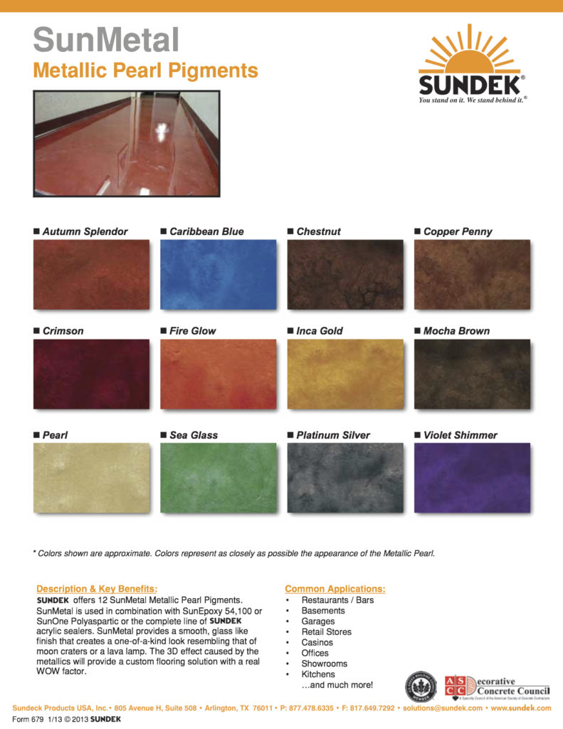 SunMetal-Color-Chart metallic epoxy floors