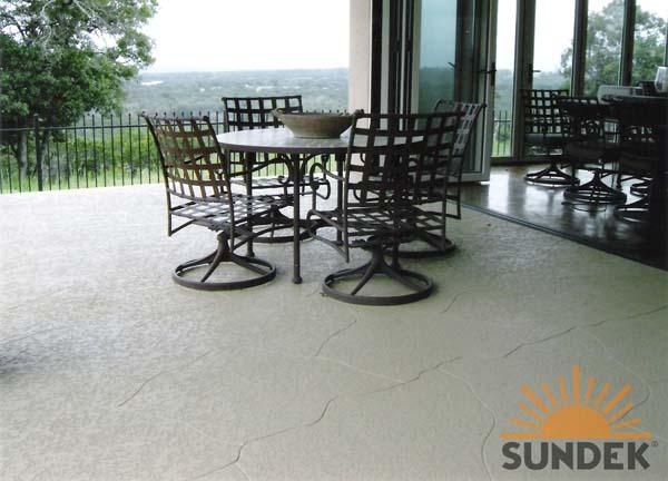 Classic texture concrete patio