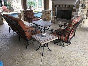 resurfaced concrete patio
