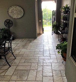 indoor concrete flooring