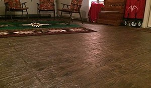 wood stained indoor floors