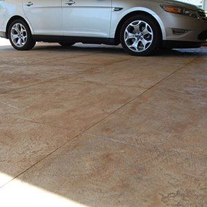resurfaced concrete driveway
